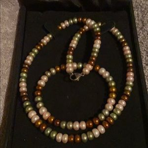 Honora Collection Pearl Necklace & Bracelet Set